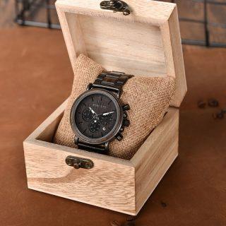 zegarek drewniany bobo bird pudełko z drewna