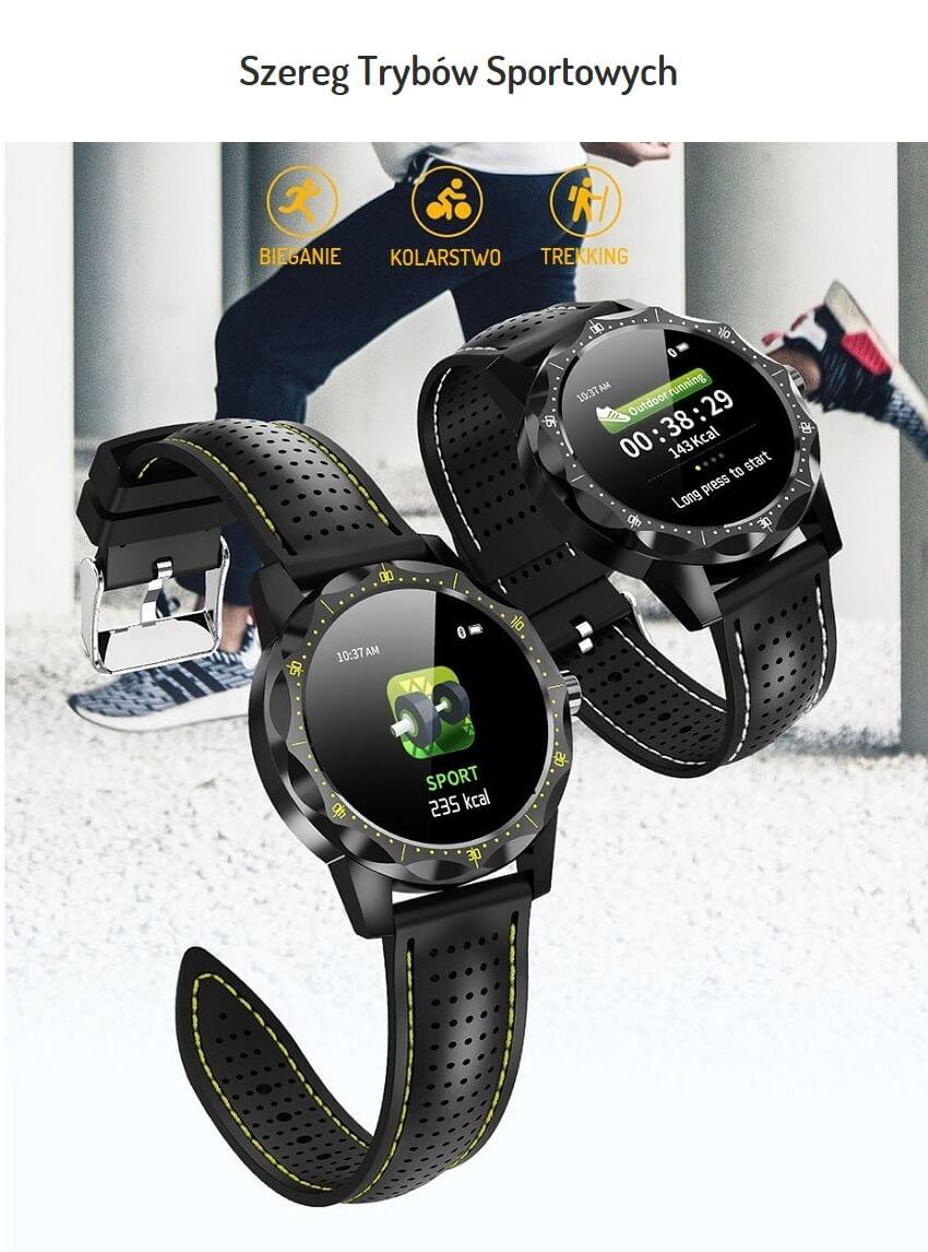 Sportowy Smartwatch Fornax SK1 Pulsometr - Pedometr