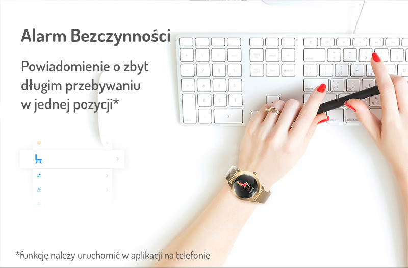 Stylowy Smartwatch Damski Mediatek W10 Pulsometr