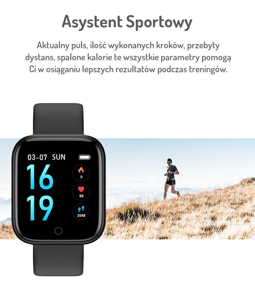 Stylowy Smartwatch Nano 8 Wymienne Bransolety