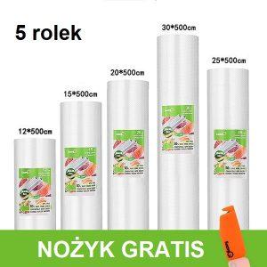 5 Rolek - różne rozmiary